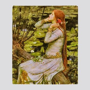 Waterhouse: Ophelia (1894) Throw Blanket