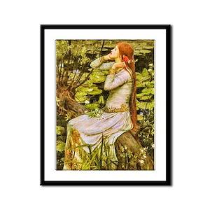 Waterhouse: Ophelia (1894) Framed Panel Print