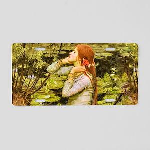 Waterhouse: Ophelia (1894) Aluminum License Plate