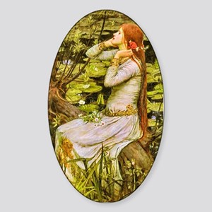 Waterhouse: Ophelia (1894) Sticker (Oval)
