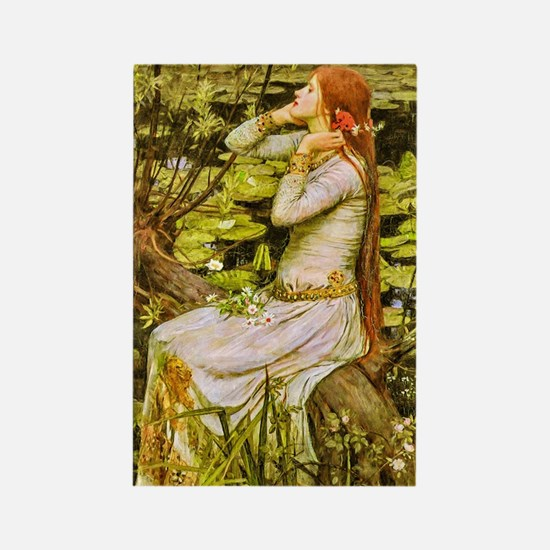 Waterhouse: Ophelia (1894) Rectangle Magnet