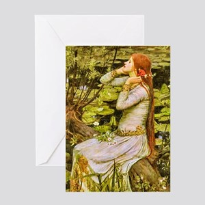 Waterhouse: Ophelia (1894) Greeting Card