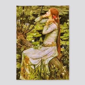 Waterhouse: Ophelia (1894) 5'x7'Area Rug