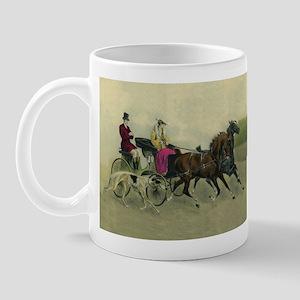 Carriage Ride Borzoi Mug