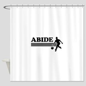 Abide bowling Shower Curtain