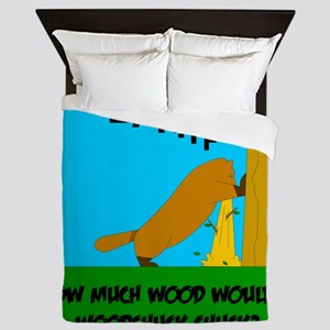 How much wood Queen Duvet