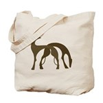 Art Deco Hound Duo Tote Bag