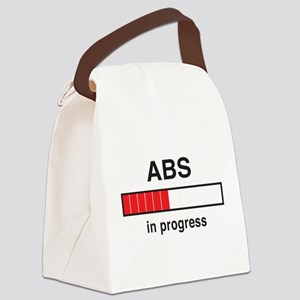 Abs in progress Canvas Lunch Bag