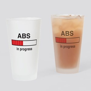 Abs in progress Drinking Glass