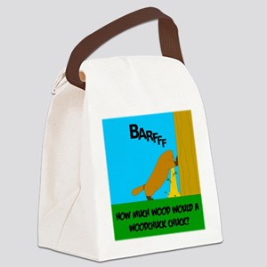How much wood Canvas Lunch Bag