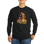 Fairies & Golden Long Sleeve Dark T-Shirt