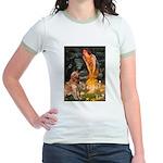 Fairies & Golden Jr. Ringer T-Shirt