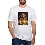 Fairies & Golden Fitted T-Shirt