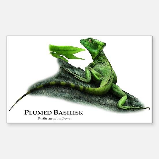Plumed Basilisk Sticker (Rectangle)