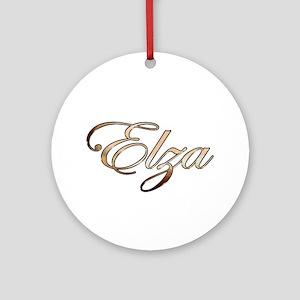 Gold Elza Round Ornament