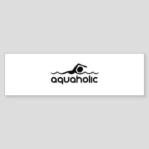 Aquaholic Bumper Sticker