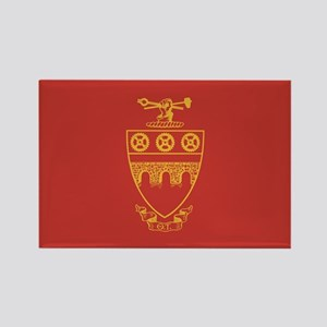 Theta Tau Fraternity Crest in Yel Rectangle Magnet