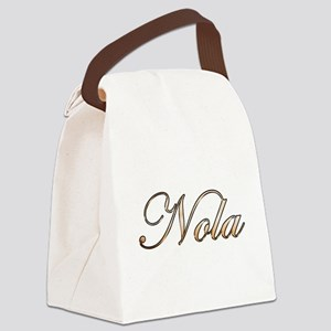 Gold Nola Canvas Lunch Bag