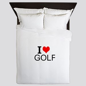 I Love Golf Queen Duvet