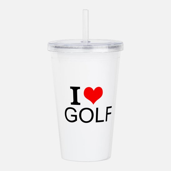 I Love Golf Acrylic Double-wall Tumbler