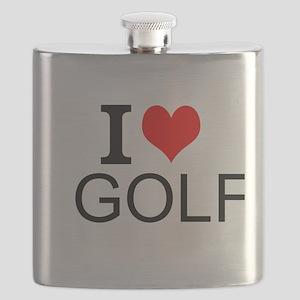 I Love Golf Flask