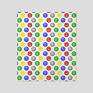 Bingo Balls Swatch 11x13 Throw Blanket