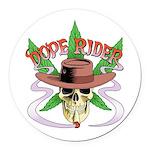 Dope Rider Logo Round Car Magnet