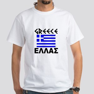 Greece White T-Shirt