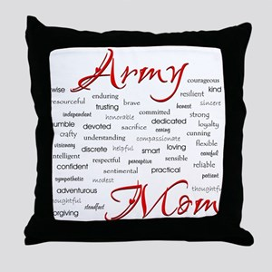 Army Mom poem in words Throw Pillow