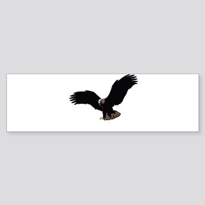 Flying Eagle - Outstretched Wings Bumper Sticker
