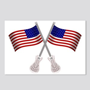 American Flag Lacrosse St Postcards (Package of 8)