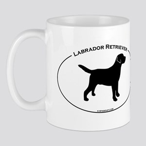 Labrador Oval Text Mug
