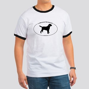 Labrador Oval Text Ringer T