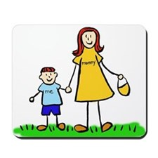 Mother and Son (Redhead) Mousepad