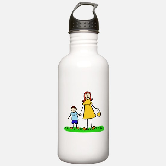 Mother and Son (Redhead) Water Bottle