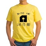 Byte Me 1983 Yellow T-Shirt