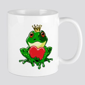 Frog Prince with Heart Mugs