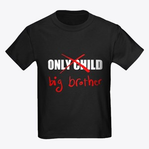 Only Child Big Brother Kids Dark T-Shirt