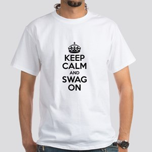 Keep Calm And Swag On White T-Shirt