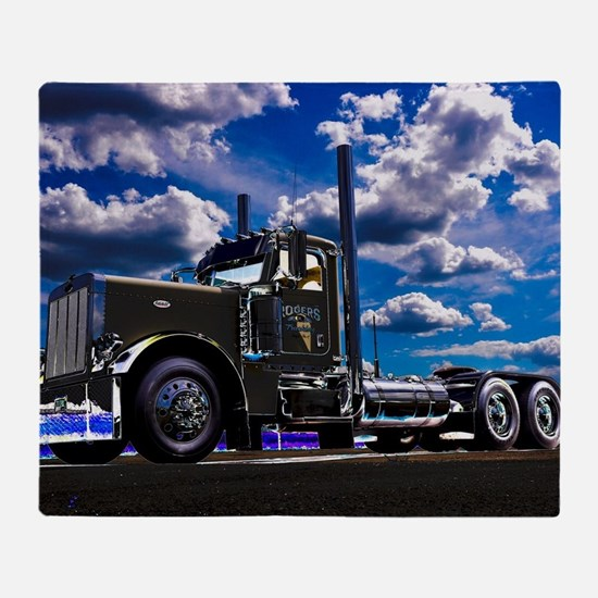Cute Big rig Throw Blanket