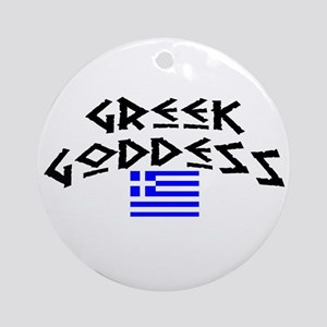 Greek Goddess Ornament (Round)