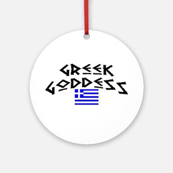 Greek Goddess Ornament (Round)