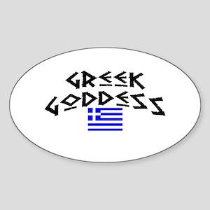Greek Goddess Oval Sticker