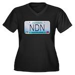 Missouri NDN license plate Women's Plus Size V-Nec