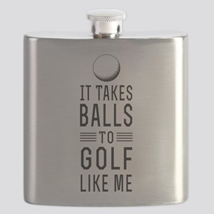 It takes balls to golf Flask