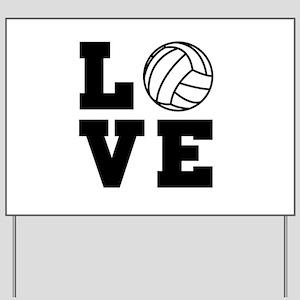 Volleyball love Yard Sign