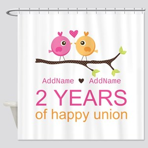 Two Years Of Happy Union Shower Curtain