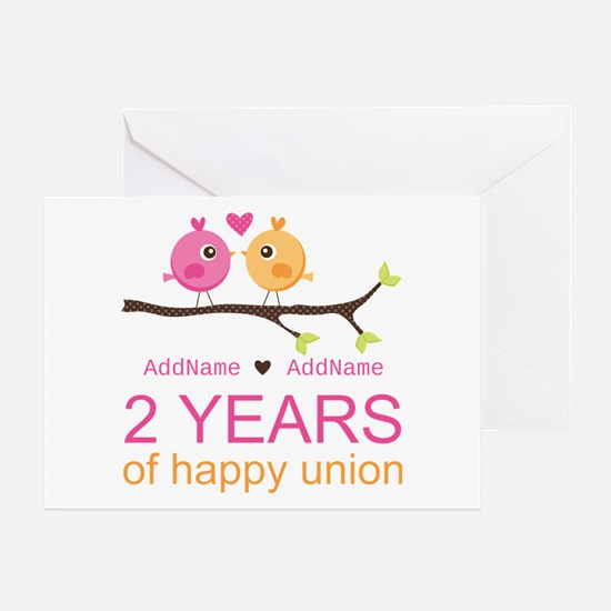 Two Years Of Happy Union Greeting Card