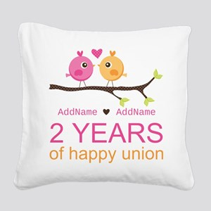 Two Years Of Happy Union Square Canvas Pillow