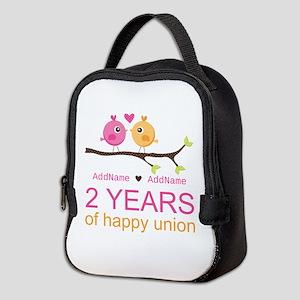 Two Years Of Happy Union Neoprene Lunch Bag